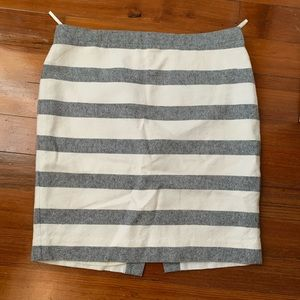 JCrew striped pencil skirt size 10